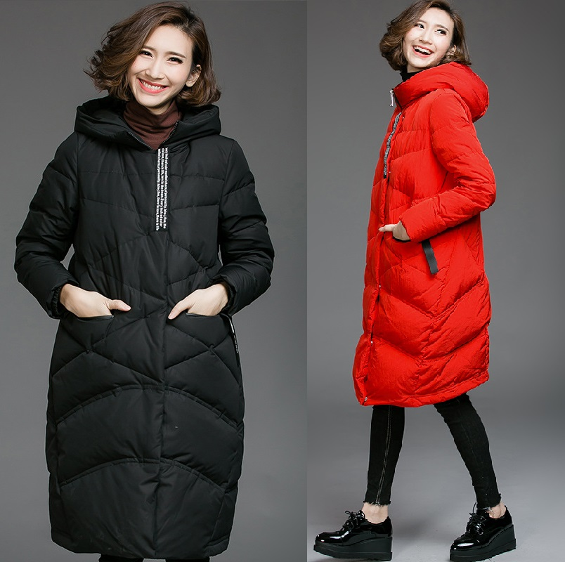 2016 Winter women hooded Wadded coat female plus size warm thickening casual cocoon long padded jacket outwear parkas XXXXXL8288 new 2017 women winter jacket cotton padded long hooded parkas casual wadded warm outwear plus size unique style women s coat