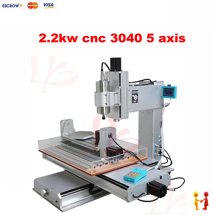Three dimensional 5 Axis mini CNC Router 3040 milling machine 2.2KW CNC Cutting Machine High-Precision Ball Screw Table cyclops 2 in 1 out switching hotend multi extrusion color 3d extruder 0 5mm nozzle for 1 75mm filament