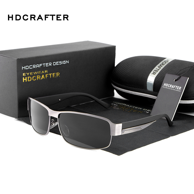 HDCRAFTER Polarized Men Sunglasses Male Driving Sun Glasses