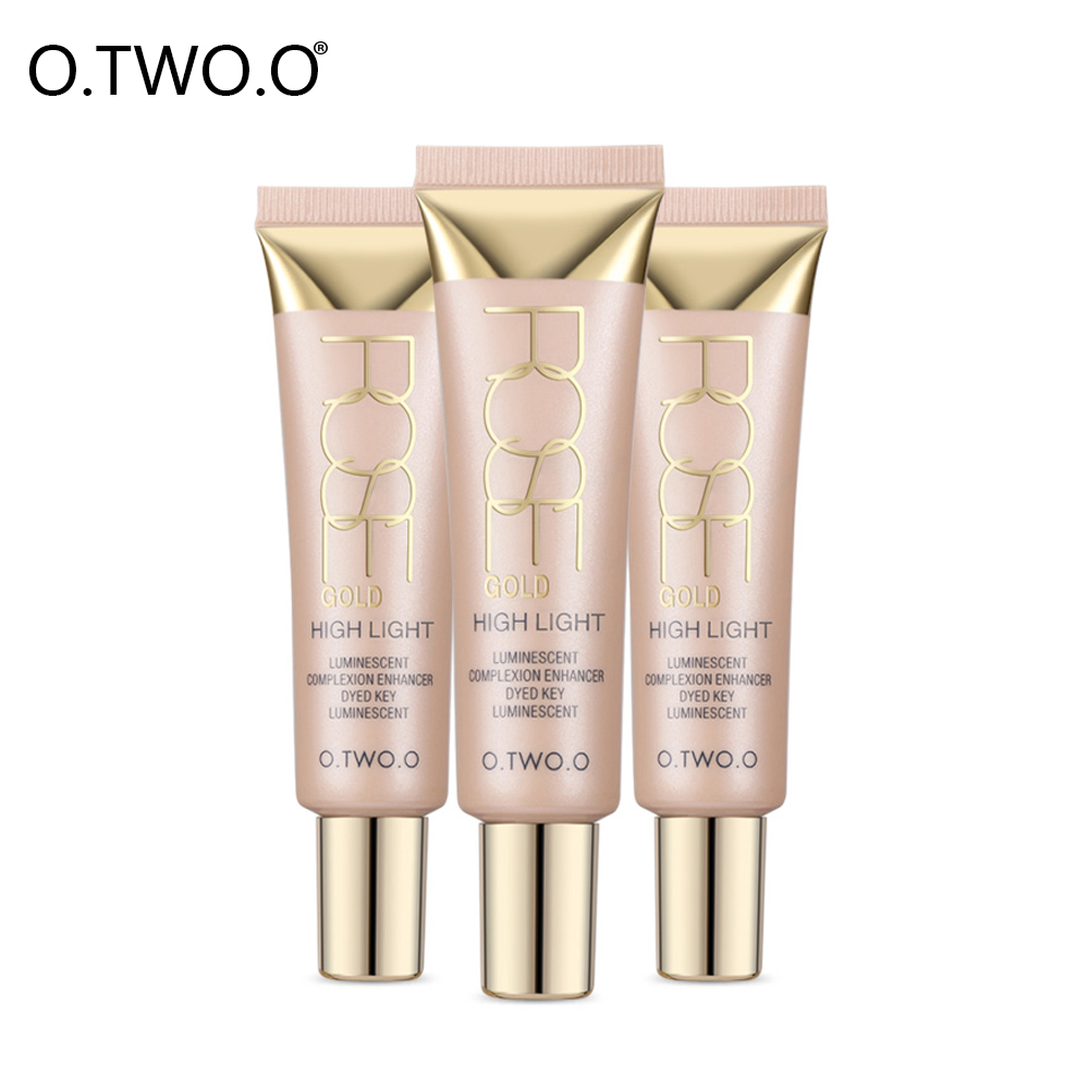 O.TWO.O Highlighter Creams Face Make Up Waterproof White Contour Shimmer Glow Brighten Liquid Highlighter Creamy Texture