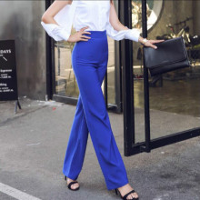 2019 new spring and summer Fashion casual Slim high waist blue tall female women girls pants trousers clothes 79071