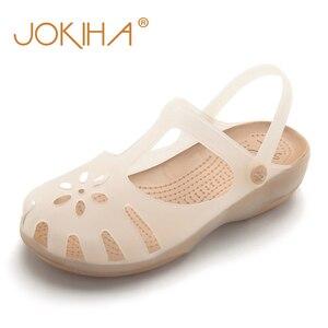 Image 2 - קיץ נשים פרדות כפכפים חוף לנשימה נעלי בית אישה של סנדלי ג לי נעלי חמוד לטשטש גן נעלי לסתום לאישה בנות