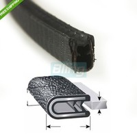 1 16 02 196 In Length Door Guards Protector Trim Molding Sound Proof Car PVC Rubber