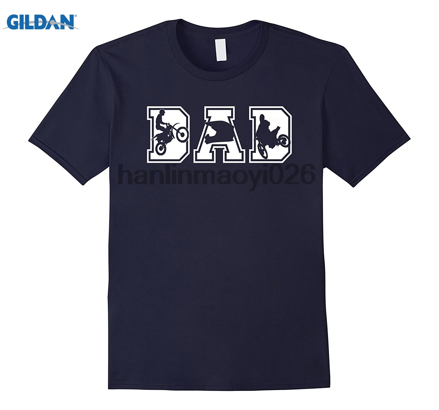 GILDAN Mens Motocross Dad Funny Fathers Day T-Shirt
