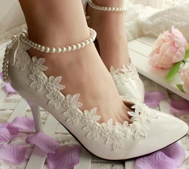 free drop shipping new arrival women pointed toe thin heels cute lace rhinestone fashion crystal wedding