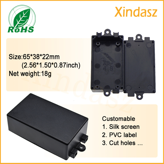 10pcs/Lot)Free shipping wall mount plastic electronics project box ...