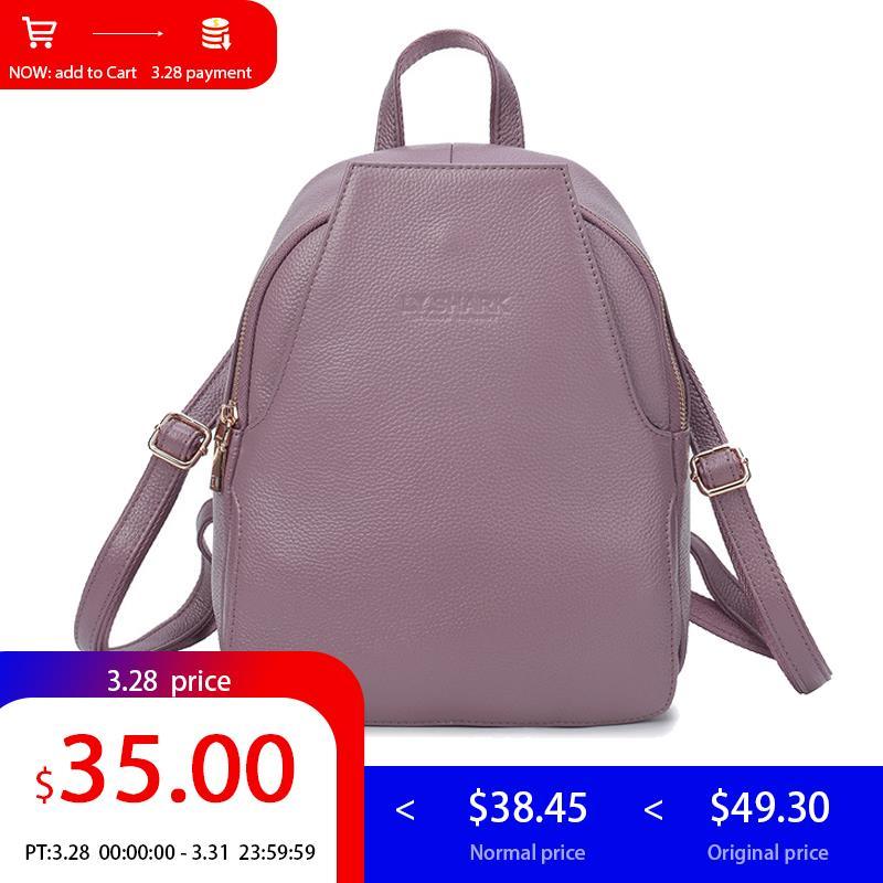 LY.SHARK Mini Backpack Women Bagpack Genuine Leather Backpack Small Women Shoulder Bag Anti Theft Back Pack For Girls Backbag