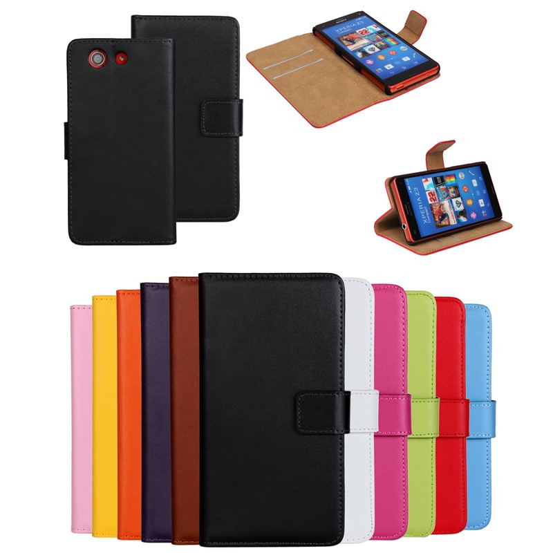 For Sony Xperia Z3 Compact Case Cover Wallet Flip Leather Book Slim Shell Pouch Mobile Phone Bag For Sony Xperia Z3 Compact Case