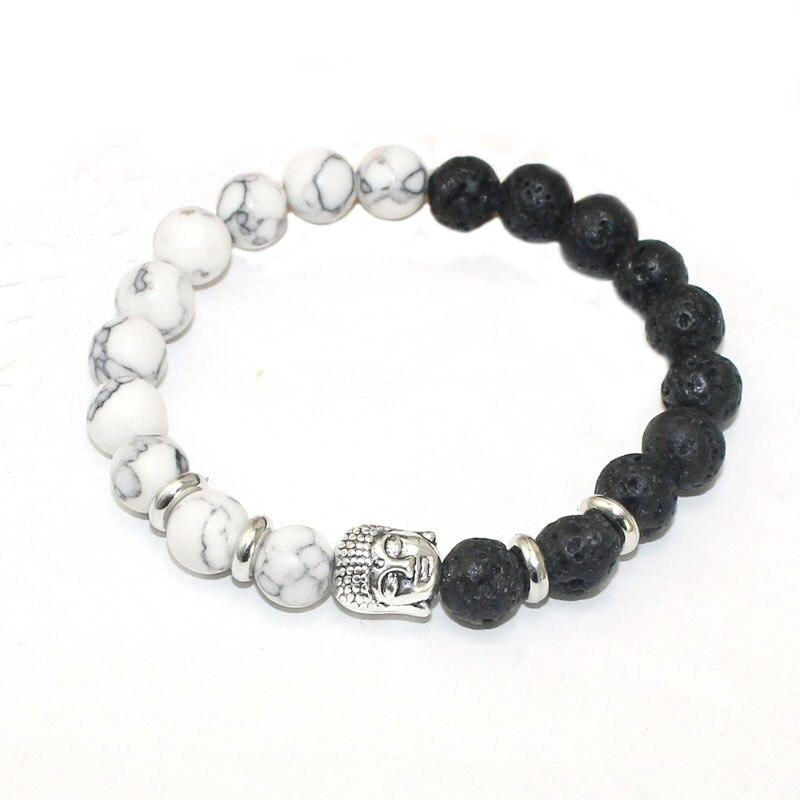 8mm Lava Stone Strand Bracelets & Bangles Natural Stone Beads