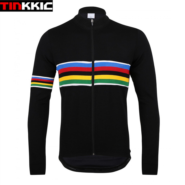UCI Black Cycling Jersey Winter Thermal Fleece Long Sleeve Bicycle Jacket  Mtb Bike Clothing Maillot Ciclismo invierno  DT-002 8edb8deef