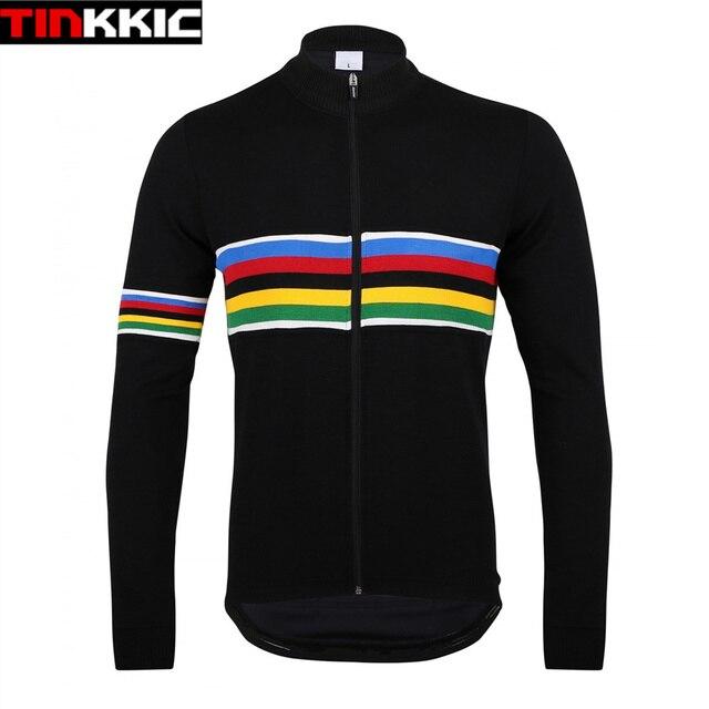 UCI negro Ciclismo Jersey invierno Polar térmico manga larga bicicleta  chaqueta Mtb bicicleta ropa Maillot Ciclismo 284858779