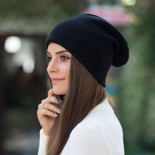 BINGYUANHAOXUAN 2017 Winter Hot Brand Wool Cap Casual Skullies Knitted Hats Rabbit hair Hats Knitted Women's Wool Thick Hat все цены