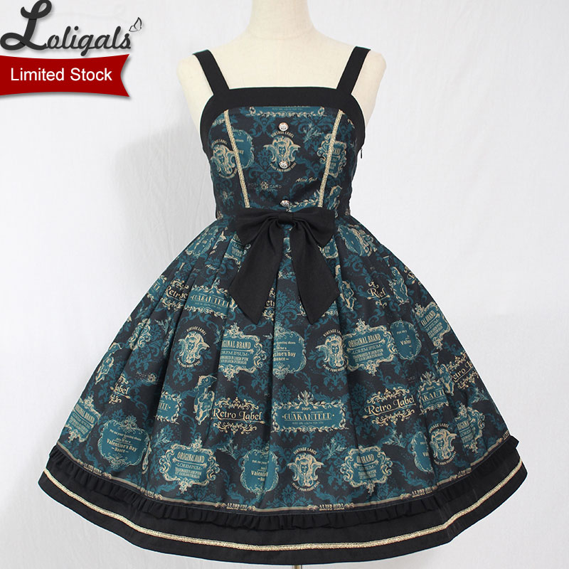 Carol Card Gothic Lolita JSK Dress Sleeveless Party Dress by Alice Girl Limited Stock