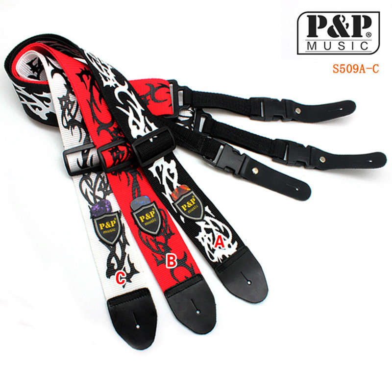 Free Shipping P&P leather Head guitar strap flame electric guitar strap wooden guitar strap s509 coccinelle we0 11 01 01 bianco