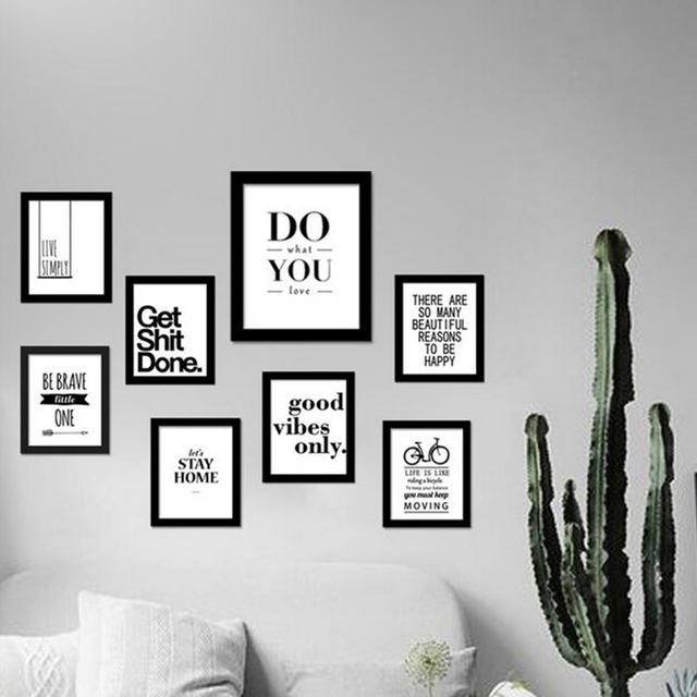 inspirational quotes wall art canvas print modern wall painting