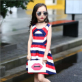 Girls Dress Summer 2017 New Kids Dress Children Clothing Striped Lovely Holiday Party Vestido Girls Dress Summer