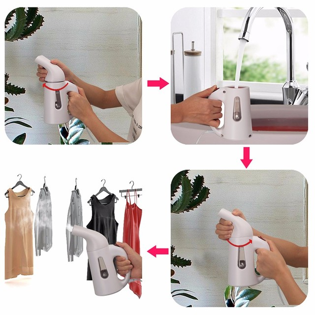 Mini Steam Iron Handheld dry Cleaning Brush Clothes