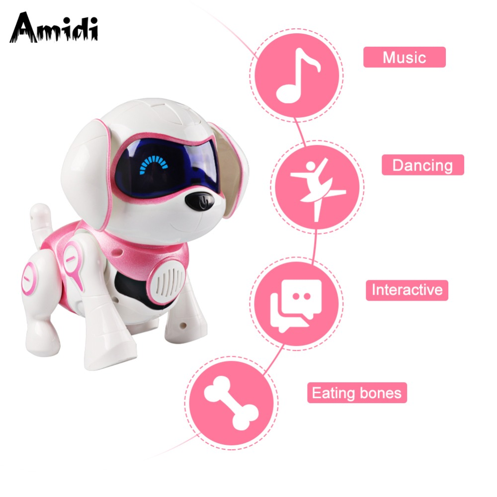 Intelligent Robot Dog Toy Smart Electronic Pets Dog Kids Toy Cute Puppy Walk Talking Dance Robot Gift Children Birthday Present