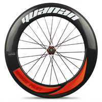 Колеса Триатлон углерода 88 мм Глубина Clincher Tubular бескамерные обода для TT времени отслеживать велосипед колесной РУЭДАС Carbono