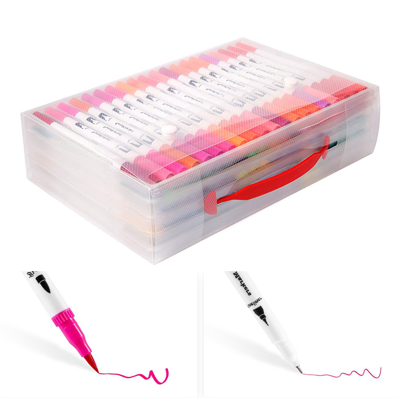 Doble cepillo plumas arte marcadores 0,4mm bellas liners Punta de ...