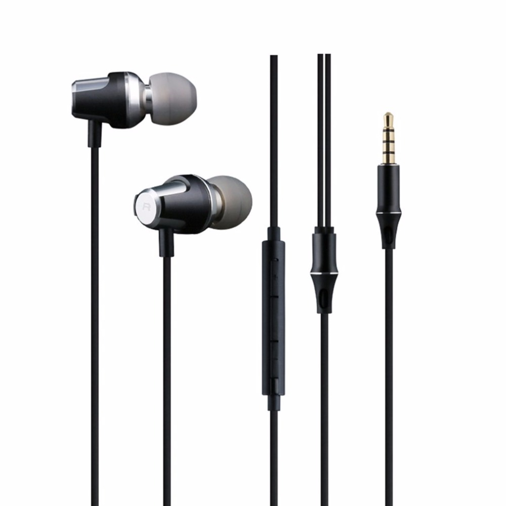 In-Ear Super Bass Earphones 3.5mm Plug Wire Control Universal For Mobile Phone Stereo Music Answering Call sur s525 dynamic stereo music in ear earphones drive by wire