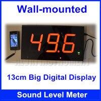 Бесплатная доставка настенный цифровой измеритель уровня звука на стене Шум метр большой экран ресторан бар помещении офиса