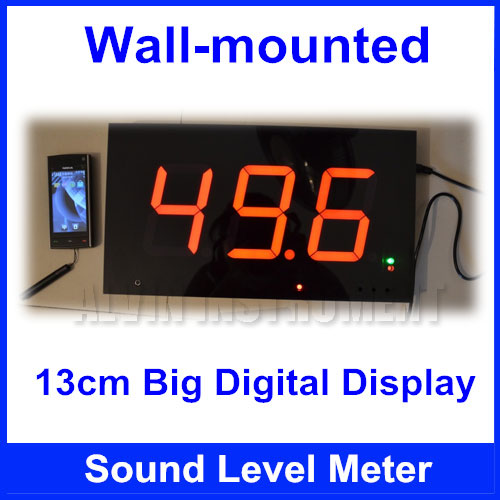Free Shipping Wall Mounted Digital Sound Level Meter Wall Hanging Noise Meter Large Screen Display Restaurant Bar Indoor Office In Level Measuring