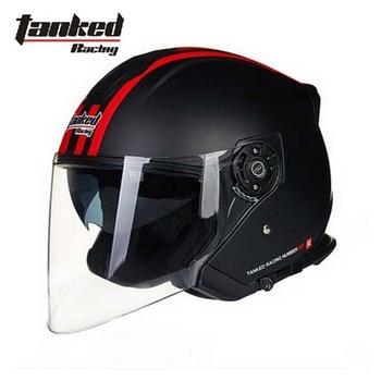 Germany Tanked Racing T597 dual visor electric motorcycle helmet,half face scooter motorbike safety helmet size L XL XXL men