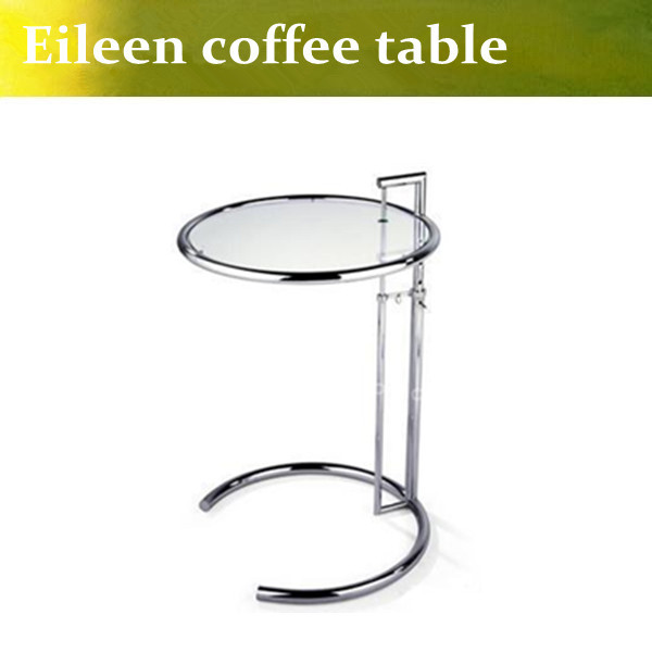 U-BEST Eileen Gray Side Table with Tempered Glass Top,Eileen Gray End Table,glass side table,modern tea talbe