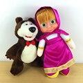 России Маша И Медведь Кукла Возрождается Мягкие игрушки Juguete Мягкие и плюшевые Марта Медведь Куклы Baby Toys For Girl Без Батареи