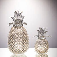 Creative crystal pineapple miniature figurines glass plant fruit Arts and Crafts wedding Gifts home decoration accessories