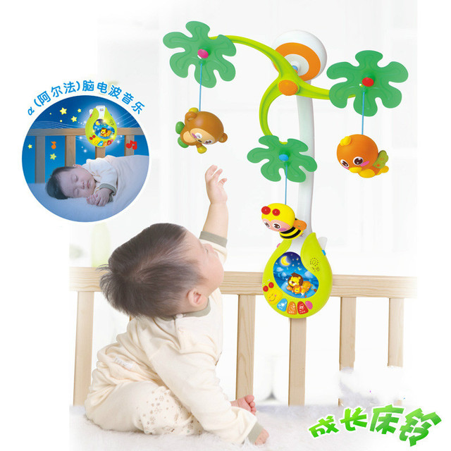 Bed Bell Funny Brain Wave Music Rotating Children