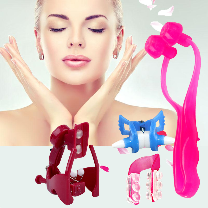 4pcs Nose up Shaping Nose Bridge Lifting Shaping Shaper Nose Clipper Straightening   Clip Lifter Women Beauty Tool 1718