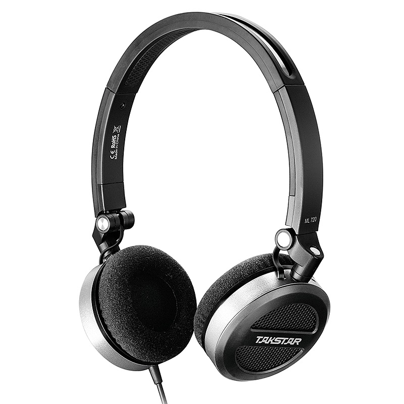 Newest Original Takstar ML720 Portable Stereo Headphone for iPhone MFi with Microphone Foldable Music Appreciation Headset rinsec nx 8252 bluetooth headphone headband wireless wired headset foldable with stereo music earphone with microphone