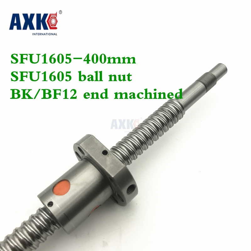 16mm 1605 Ball Screw Rolled C7 ballscrew SFU1605 400mm with one 1605 flange single ball nut for CNC parts 16mm 1605 ball screw rolled c7 ballscrew sfu1605 950mm with one 1500 flange single ball nut for cnc parts
