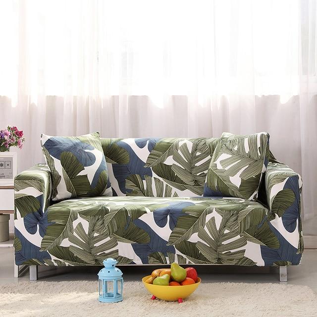 US $19.11 38% OFF|Modern Sofa Cover All inclusive Slip resistant Cheap Sofa  Towel Elastic Corner Sofa Sectional Covers Leaves Print Sofa Slipcover-in  ...