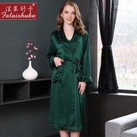 19 Муми тяжелые натуральная шелковые халаты женские пикантные Простые 100% шелк пижамы Для женщин Элегантный спальный халат кимоно S5505