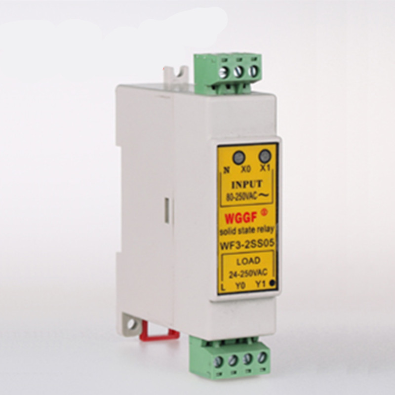 Din Guide 2Loop SSR 5A Compact Solid State Relay with Heat Sink normally open single phase solid state relay ssr mgr 1 d48120 120a control dc ac 24 480v