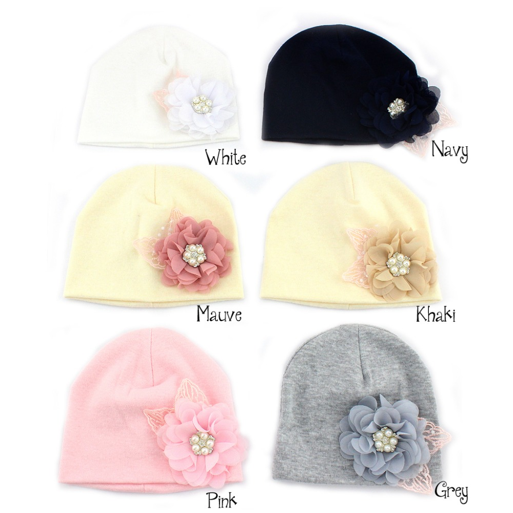 Baby Girl White Crochet Hat with a lovely Unicorn colour flower Newborn//3 mths