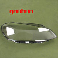 For Volkswagen Golf 7 14 17 front headlight cover lamp headlamp shell mask lampshade lens glass 2pcs