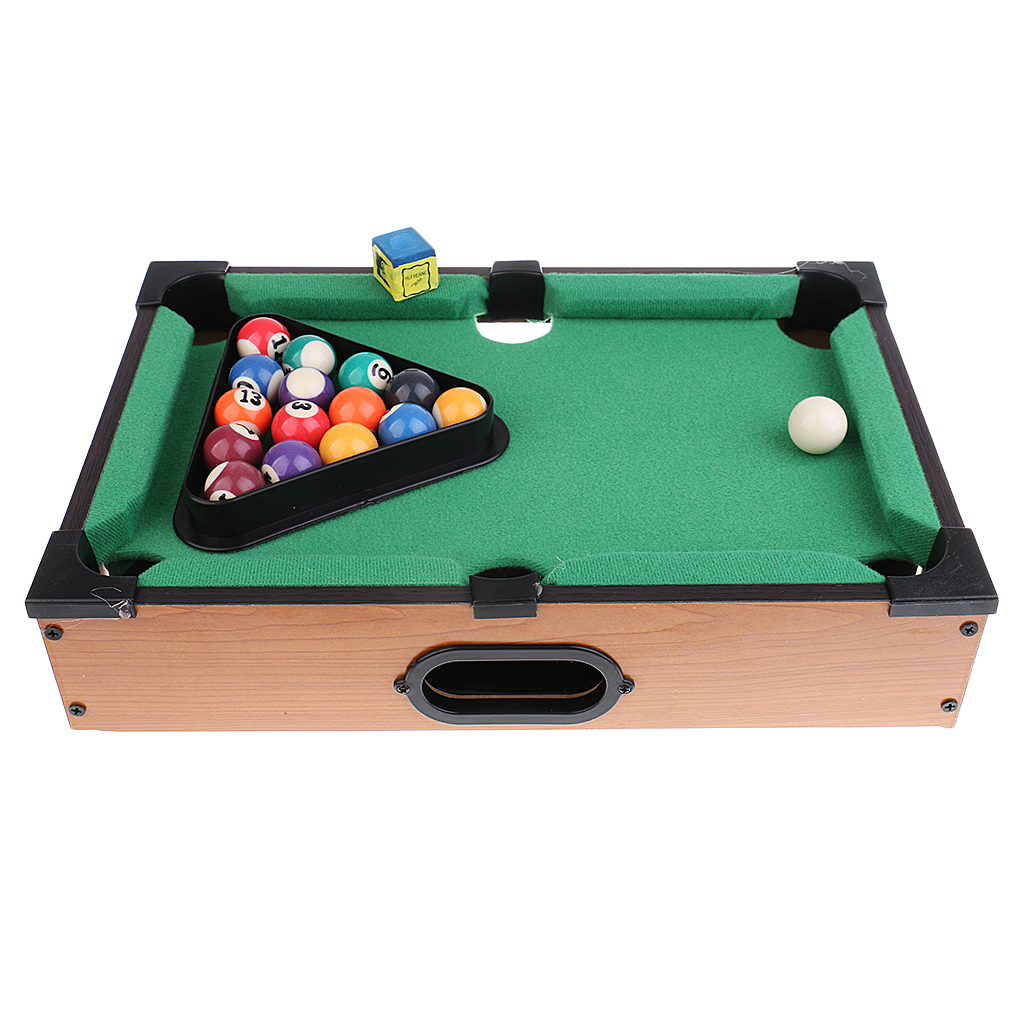Sports Game Mini Billiard Ball Table Board Game Snooker Tabletop Pool Table Desktop Game Set Toy Kid Gift