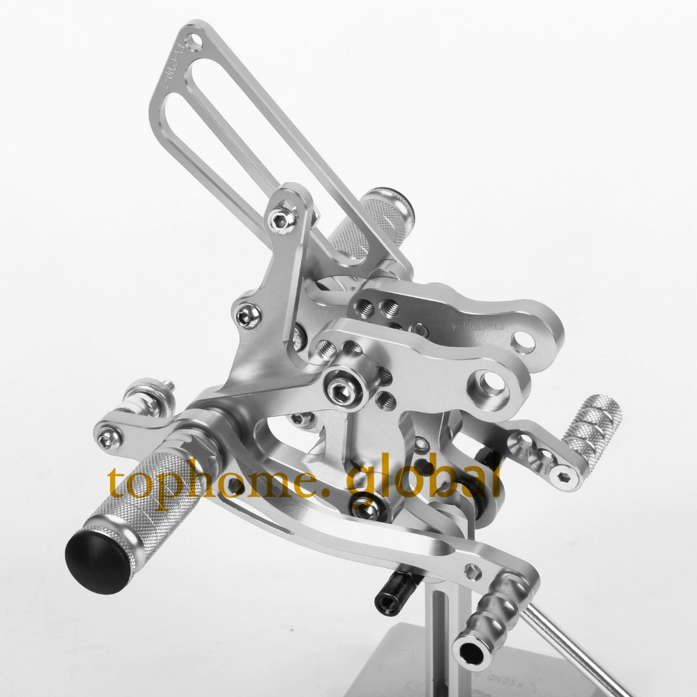 CNC Motorcycle Parts Silver Rearsets Foot Pegs Rear Set For HONDA CBR400 NC29 1993-1994 1995 1996 1997 1998 1999 new cnc motorcycle rearsets foot pegs rearset golden color for suzuki gsxr750 1996 2005 1997 19998 1999 2000 2001