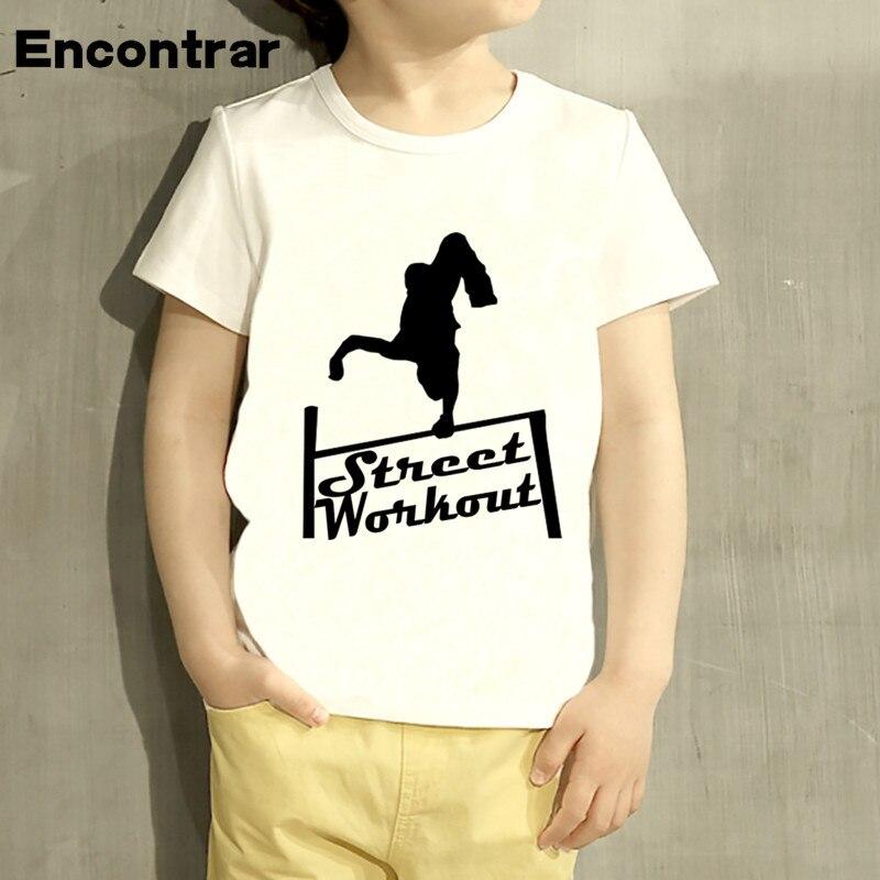 Kids Street Workout Design Baby Boys/Girl TShirt Kids Funny Short Sleeve Tops Children Cute T-Shirt,HKP4086