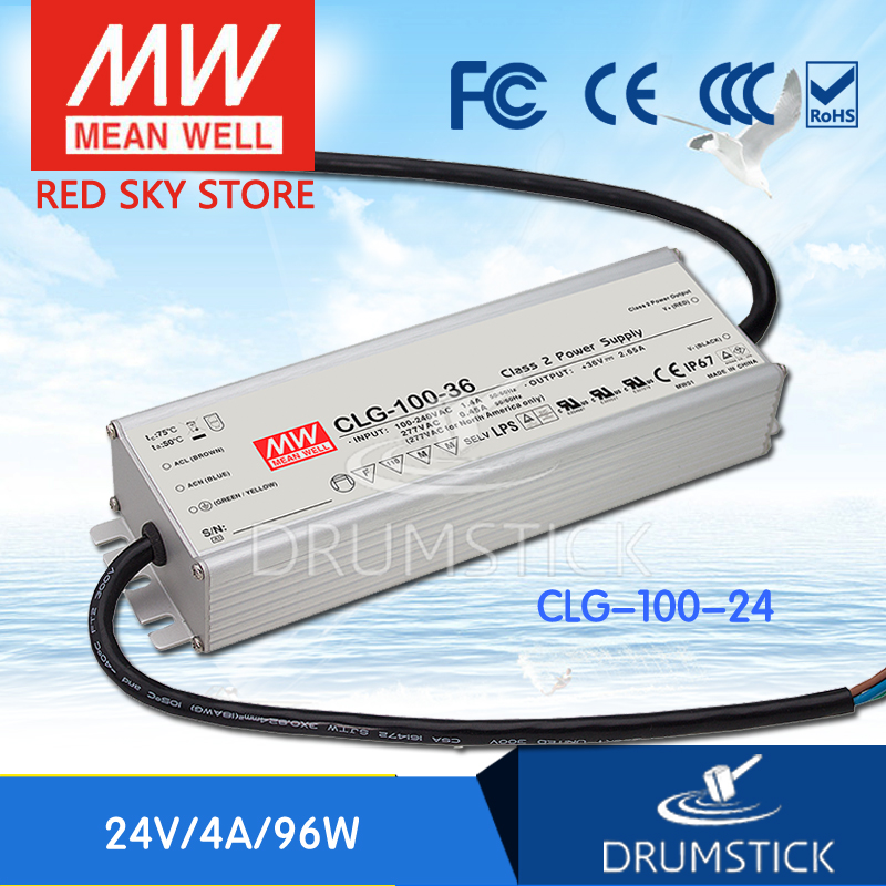 все цены на  hot-selling MEAN WELL CLG-100-24 24V 4A meanwell CLG-100 24V 96W Single Output LED Switching Power Supply [Real1]  онлайн