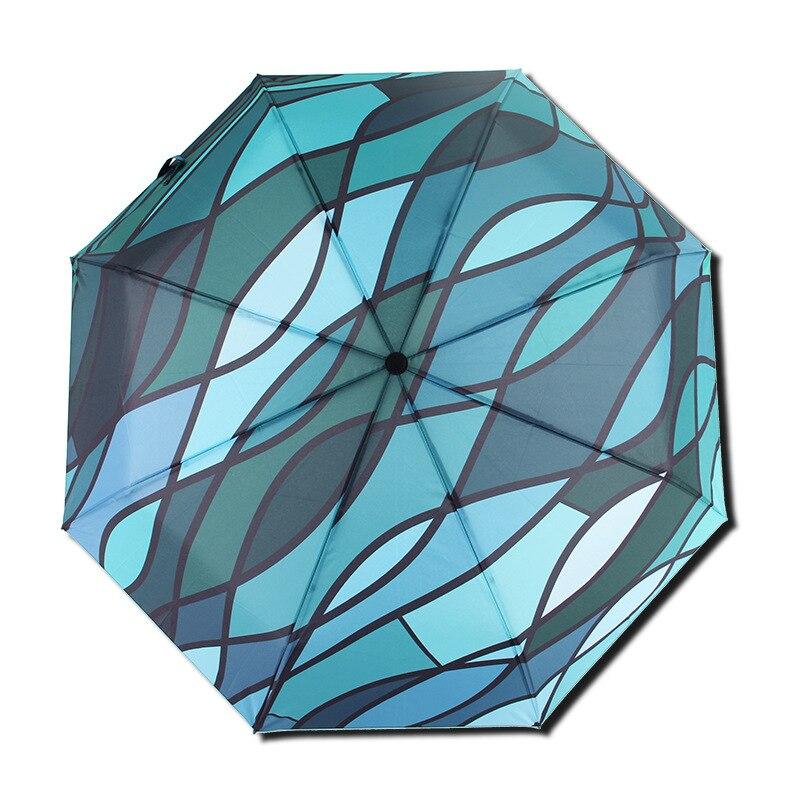 Livraison gratuite mode femmes parasol arc-en-ciel parapluie grand Long manche droit coloré parapluie femme ensoleillé et pluvieux parapluie
