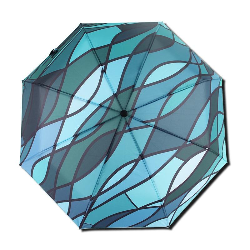 Parapluie automatique pliant de haute qualité de personnalité de mode pour les parapluies de pluie de soleil de coupe-vent de femme et d'homme