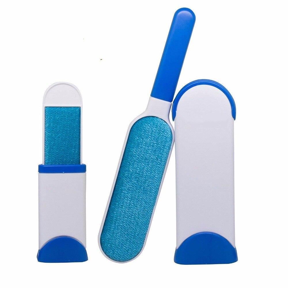 Magic Hair removedor cepillo reutilizable auto-limpieza doble pelusa removedor piel Scrub ropa tamaño de viaje Doble cara Brusher