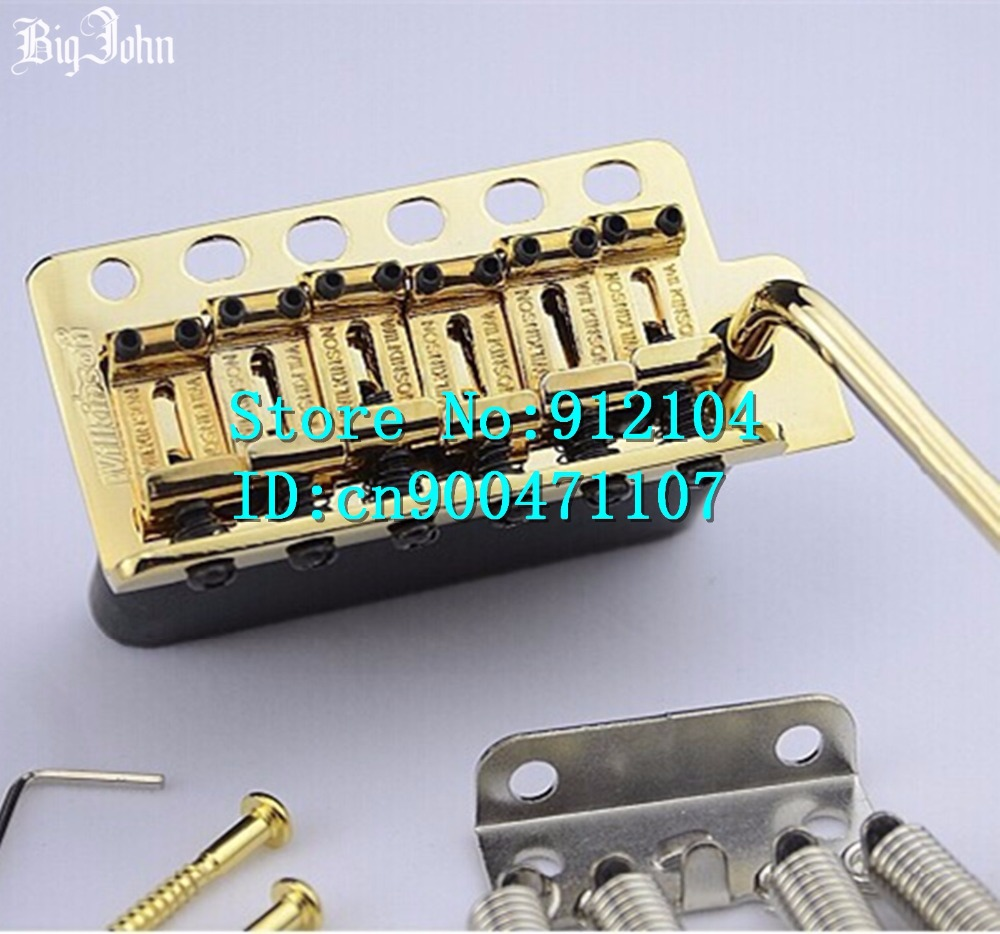 free shipping new wilkinson WV6-SB single wave electric guitar bridge  in gold made in Korea  L3 free shipping wilkinson lic vintage single coil pickup fit mwvsn m b