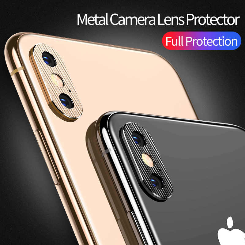 on sale d6d1d ee7dc MSVII Metal Camera Lens Protector for iPhone X Anti-scratch Camera  Protective for iPhone Xs 360 Full Protection for iPhone XsMax