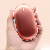 USB Rechargeable Hand Warmer With 5000mah Power Bank Cute Mini Portable Travel Mobile Power Safety Quality Pocket Hand Warmer